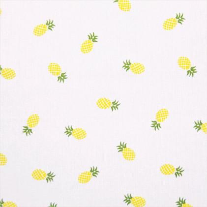 Tissu piqué de coton Ananas