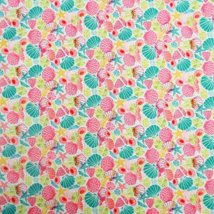 Tissu patchwork Merryn Shells Multicolore