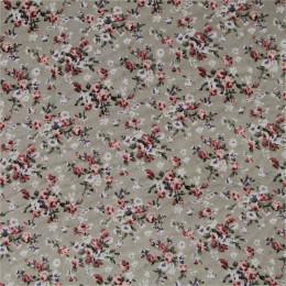 Tissu mousseline imprimée Fleurettes