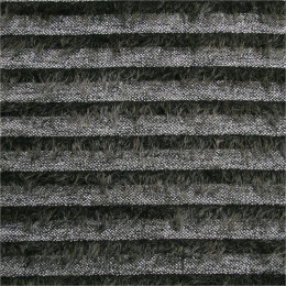 Tissu lainage maille poilue Hairy Stripe
