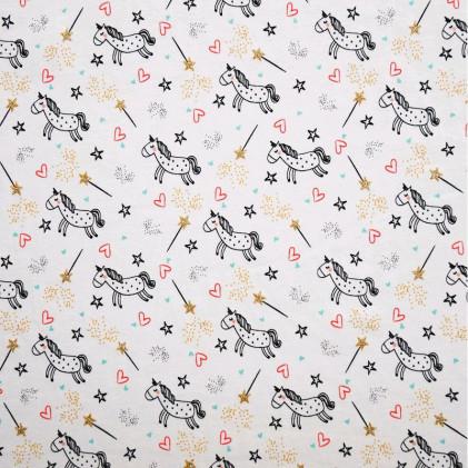 Tissu jersey Oeko-Tex Licorne