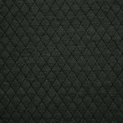 Tissu jersey matelassé à chevrons Lewy Noir