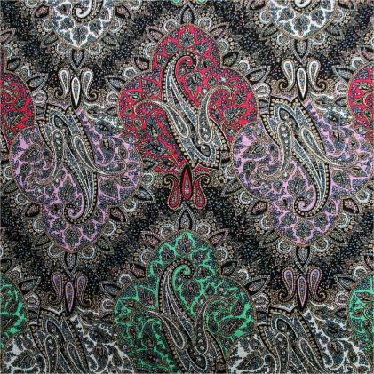 tissu jersey Cachou Multicolore