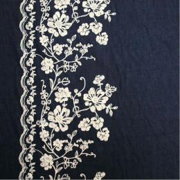 Tissu jean's Blossom