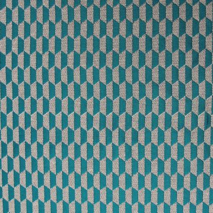 Tissu jacquard Otto  Bleu / Gris