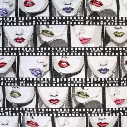 Tissu jacquard Lips