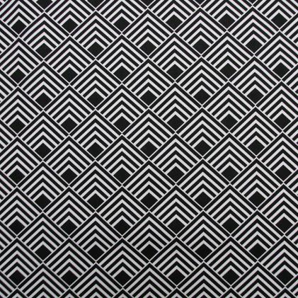 Tissu imprimé Pasco  Noir