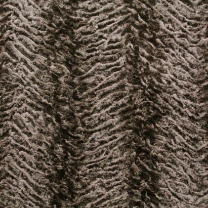 Tissu fourrure Makov Marron brun