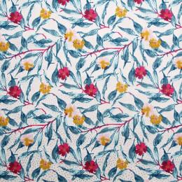 Tissu coton popeline imprimée Flore