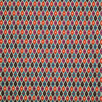 Tissu coton imprimé Oeko-Tex Tapajos  Multicolore