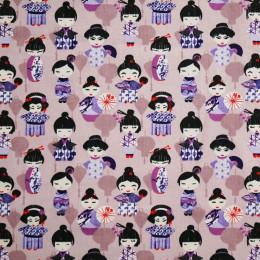Tissu coton imprimé Oeko-Tex Xue