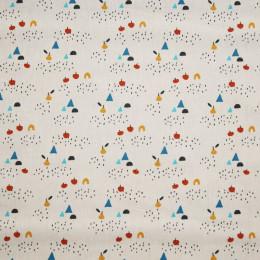 Tissu coton imprimé Oeko-Tex Oboe