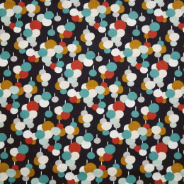 Tissu coton imprimé Oeko-Tex Ronds