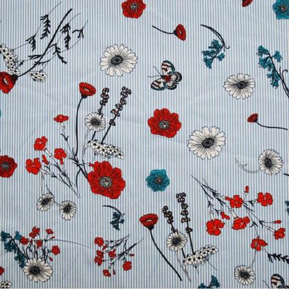 Tissu coton imprimé Oeko-Tex Flora