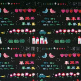 Tissu coton imprimé Chalkboard