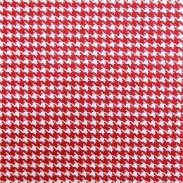 Tissu coton enduit Pied de poule