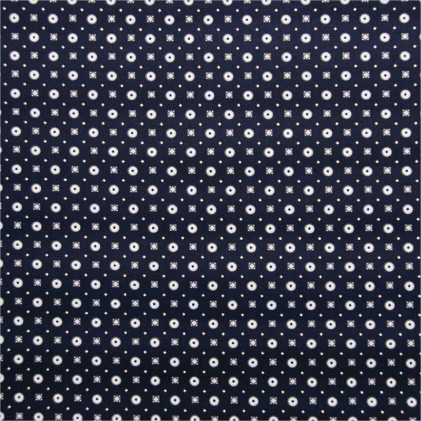 Tissu coton extensible Ben Bleu