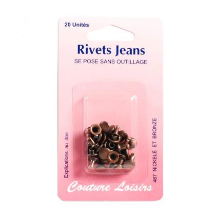 Rivets jeans Marron bronze