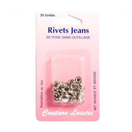 Rivets jeans Gris argent