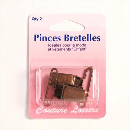 Pinces Bretelles Marron bronze