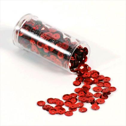 Paillettes creuses 6 mm Rouge