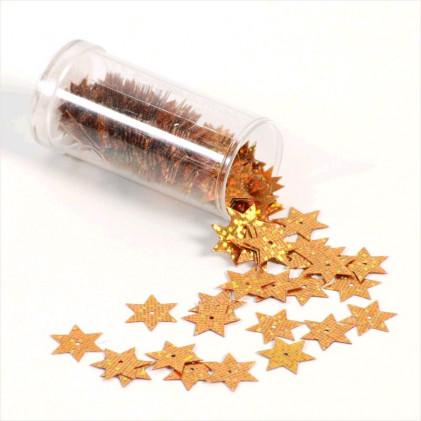 Paillettes fantaisie étoile 15 mm Or