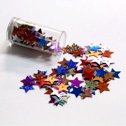 Paillettes fantaisies étoile 15 mm Multicolore