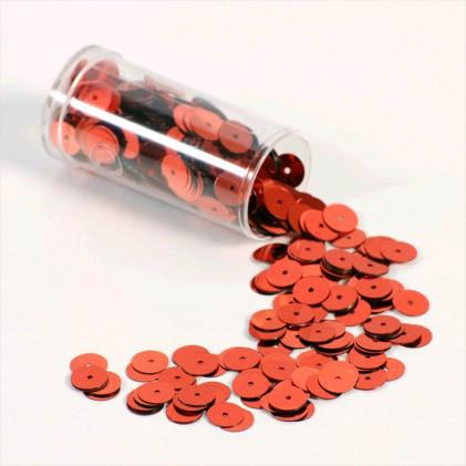 Paillettes plates 8 mm Rouge