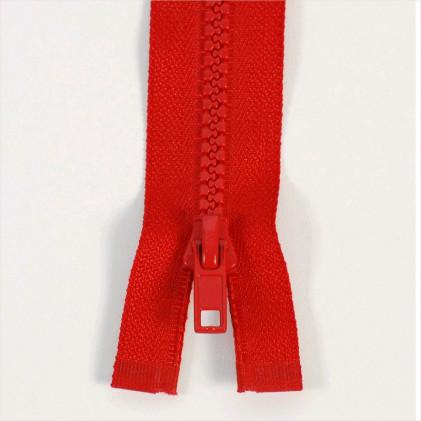 Fermeture injectée n°5 séparable 60 Rouge coquelicot