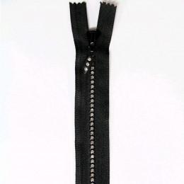 Fermeture Eclair strass non Séparable 18cm