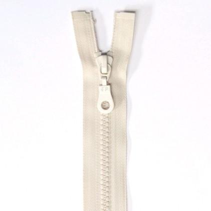 Fermeture Eclair plastique séparable 60 cm    Col. 410 Blanc cassé