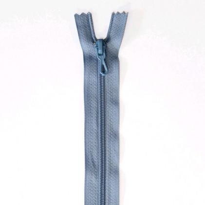 Fermeture Eclair nylon non séparable 50 cm  Col. 508 Bleu ciel