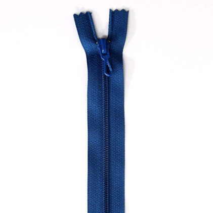 Fermeture Eclair nylon non séparable 50 cm  Col. 540 Bleu roi