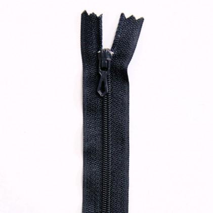 Fermeture Eclair nylon non séparable 50 cm  Col. 590 Bleu nuit