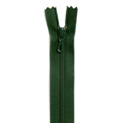 Fermeture Eclair nylon non séparable 50 cm  Col. 790 Vert sapin