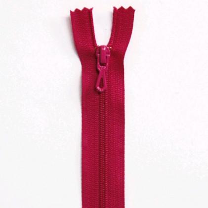 Fermeture Eclair nylon non séparable 50 cm  Col. 845 Rose fuchsia