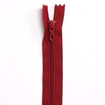 Fermeture Eclair nylon non séparable 50 cm  Col. 850 Rouge