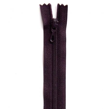 Fermeture Eclair nylon non séparable 50 cm  Col. 881 Violet prune