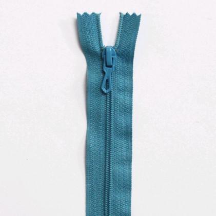 Fermeture Eclair nylon non séparable 50 cm  Col. 527 Bleu turquoise