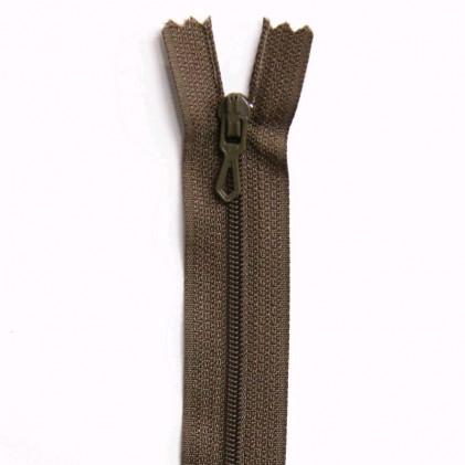 Fermeture Eclair nylon non séparable 50 cm  Col. 953 Tabac