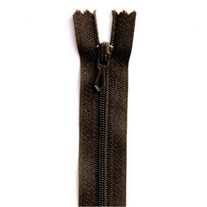 Fermeture Eclair nylon non séparable 50 cm  Col. 990 Marron