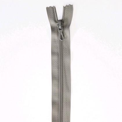 Fermeture Eclair nylon non séparable 50 cm  Col. 432 Gris souris