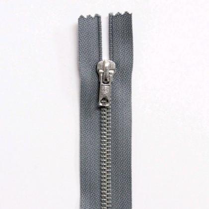 Fermeture Eclair métallique séparable 60 cm Gris