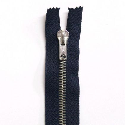 Fermeture Eclair métallique séparable 70 cm Bleu marine