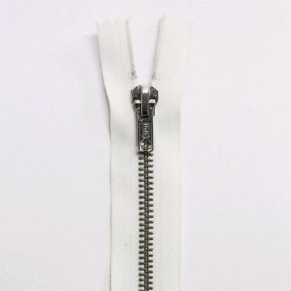 Fermeture Eclair métallique séparable 70 cm Blanc