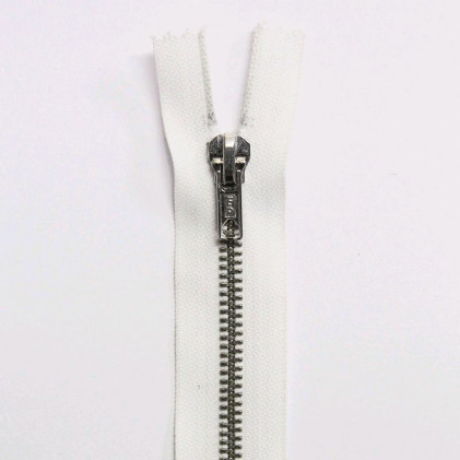 Fermeture Eclair métallique séparable 55 cm Blanc