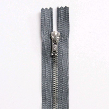 Fermeture Eclair métallique séparable 55 cm Gris