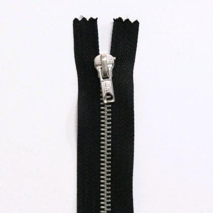 Fermeture Eclair métallique séparable 55 cm Noir