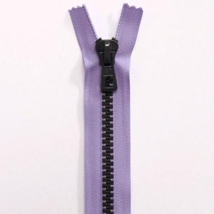 Fermeture Eclair Bicolore Non Séparable 50 cm Violet / Gris