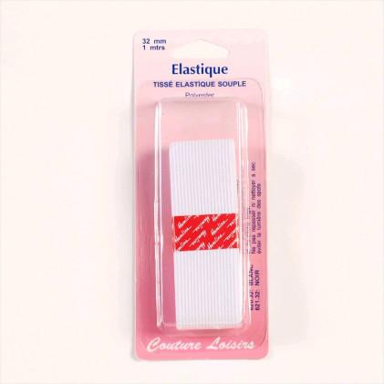 Elastique 32 mm Blanc